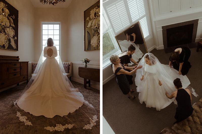 Real Wedding: Madison & Trenton - bride getting ready at briar barn inn