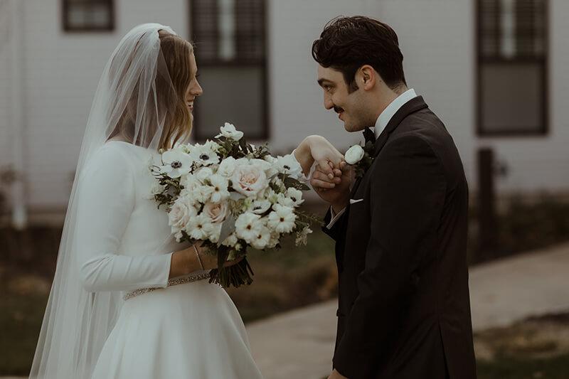 Real Wedding: Madison & Trenton - first look