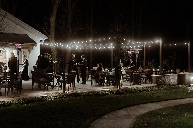 patio reception at briar barn inn