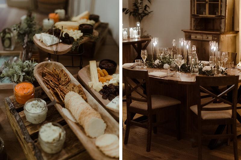 wedding cocktail hour at briar barn inn